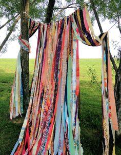 Hippie Garland Boho Shabby Chic Multi Color Backdrop Photo Prop Weddings via Etsy @meaganleelancaster