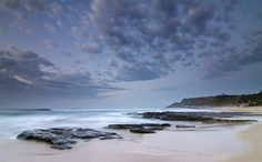 Cottonball Clouds at Newcastle Beach by madarchie0 - offline., via Flickr