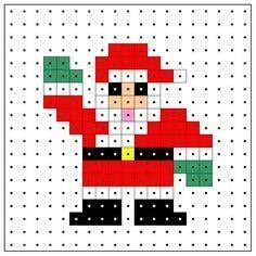 Cross Stitch Cards, Cross Stitching, Cross Stitch Designs, Cross Stitch Patterns, Pixel Art, Christmas Perler Beads, Iron Beads, Melting Beads, Perler Patterns