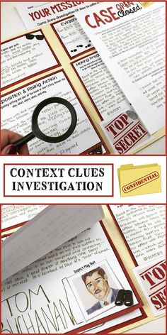 Crime scene investigation activity | Predicting outcomes | Foreshadowing | Context Clues | Upper elementary | Middle School