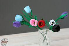 Felt Tulip Felt Flower Artificial Tulips Wedding by QuirkySewing