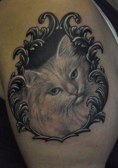 cat+Tattoo   White cat tattoo, cat tattoos, tattoos, tattoo designs, tattoo ...