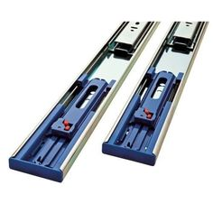 24 Inch Soft-Close Full Extension Ball Bearing Drawer Slides (Full Set for One Drawer), Silver steel