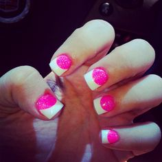 "Took a whole new meaning to "" pink & white"" nails ;)"