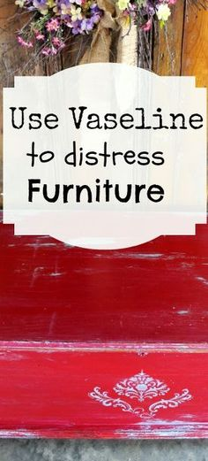 paint technique for cherry red and turquoise distressed cedar chest, painted furniture, Use Vaseline to distress or give your furniture a two tone paint finish Petticoat Junktion