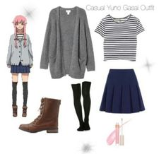 Casual cosplay of Yuno Gasai (from Future Diary/Mirai Nikki anime series)-- character inspired outfit