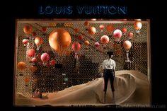 Louis Vuitton Hot air balloon window display at New Bond Street store
