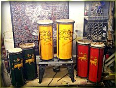 Rasta Drums HEARTBEAT Nyabinghi set  2 Drums by CrucialCulture, $497.77