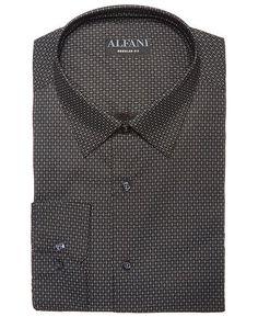 b3075077 AlfaTech by Men's Classic/Regular Fit Diamond Print Dress Shirt, Created  for Macy's