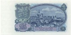 Státovky a bankovky (1953-1993) - Papírová platidla, bankovky Old Coins, Vintage World Maps, Retro, Banknote, European Countries, Czech Republic, Crowns, Stamps, Beautiful