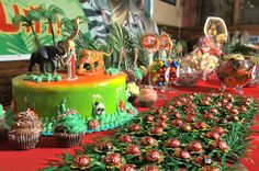 A Jungle Safari and Madagascar Dessert Table by Kids Party Hub