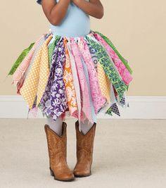 Funky rag skirt no skill required~ a la Joann fabric