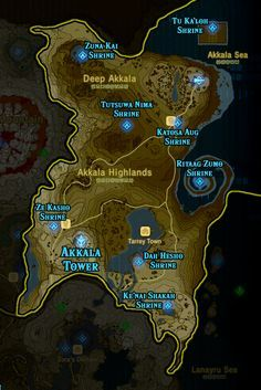 Zelda Breath Of The Wild Shrine Maps And Locations In 2020