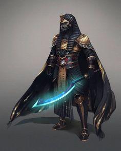 I had ever known it! Darth Vader is a Pharaoh😉. Fantasy Armor, Dark Fantasy Art, Armor Concept, Concept Art, Fantasy Character Design, Character Art, Egyptian Art, Egyptian Weapons, Fantasy Inspiration