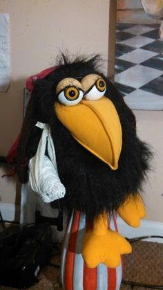 Squawky the Captain's talking mascot.