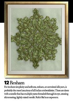 Exquisite Embroideries- RESHAM