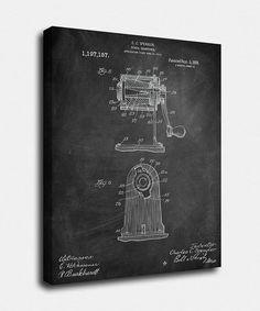 Pencil Sharpener Canvas, Pencil Sharpener Patent, Pencil Sharpener Vintage, Pencil Sharpener Blueprint, Print, Prints, Wall Art, Decor