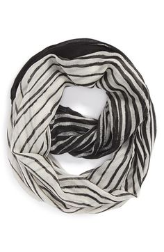 Women's Hinge Sketch Stripe Infinity Scarf - Black