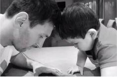 Leo y Thiago Messi