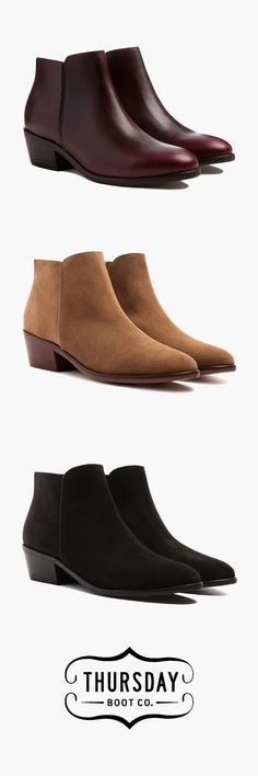In need of boots for fall/winter. I like neutral colors, non-suede, and stacked heels.