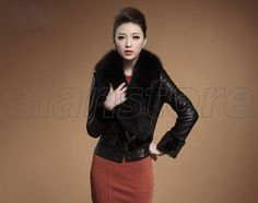 new item for autumn and winter, mink fur overcoat with high quality and fashion elements for women, fox fur collar on Hot Sale