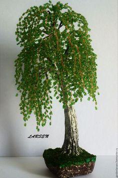 Деревья ручной работы. Ярмарка Мастеров - ручная работа. Купить Береза из бисера. Handmade. Зеленый, бисерная береза, интерьер