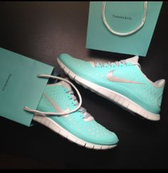 LOVE the Tiffany Blue color!! Workout shoes! http://www.allaboutallaboutallabout.com/
