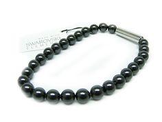Perlenarmband mit Swarovski Elements Black Pearl Günstig