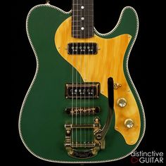 Another beautiful, one-of-a-kind rock machine from Red Rocket! Cadillac Green and our interpretation of the inconic Duo Jet. This one will rival the vintage original and absolutely smoke a modern reissue. We spared no expense making this guitar absolutely perfect. Matt Nowicki, owner of Red Rocke...