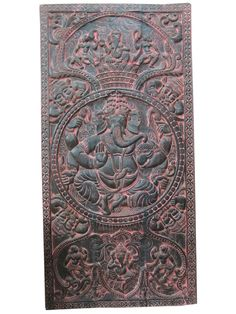 Blessing Ganesh antique door panels Hand Carved from MOGULGALLERY, based in Florida USA and selling on Etsy. Wow, that is stunning. #Ganesha