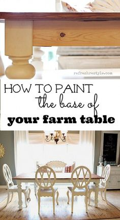 How to Paint a Farm Table - Refresh Restyle www.refreshrestyle.com