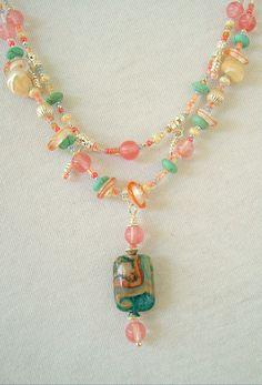 Boho Necklace Sundance Style Art Jewelry Bohemian by BohoStyleMe