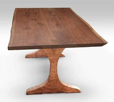 live edge walnut table top with copper clad legs farm tablestree trunkstable