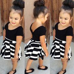 {Mode} 20 Looks fille noir et blanc repérés sur Pinterest! Moma le blog