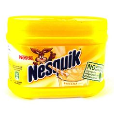Nesquik Banana Milkshake Mix is a favourite amongst kids – as well being a guilty pleasure for some grown-ups! It is a great way to encourage kids to drink milk, and contains no artificial colours, sweeteners or preservatives. Coffee Cups, Tea Cups, Nestle Chocolate, Banana Milkshake, Milkshakes, Preserves, Encouragement, Childhood Memories, Room Ideas