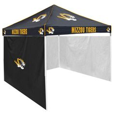 Missouri Tigers NCAA 9' x 9' Solid Color Pop-Up Tailgate Canopy Tent With Side Wall