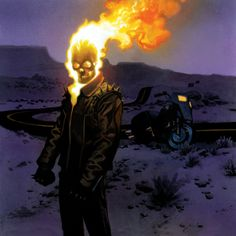 Ghost Rider by Andrew Robinson Marvel Comic Character, Marvel Comic Books, Comic Book Characters, Comic Book Heroes, Comic Books Art, Ghost Rider 2, Ghost Rider Marvel, Ghost Rider Johnny Blaze, Marvel Dc