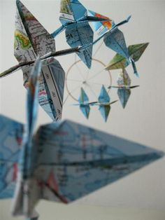 SALE  Children Decor Origami Crane Mobile  by SpareBedroomStudio, $29.00