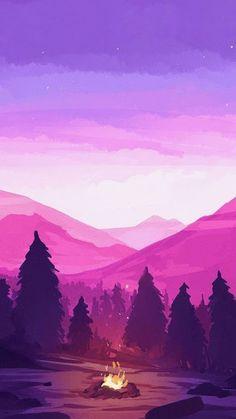 Snowy mountain with sunrise illustration Wallpaper Pastel, Anime Scenery Wallpaper, Aesthetic Pastel Wallpaper, Landscape Wallpaper, Galaxy Wallpaper, Nature Wallpaper, Aesthetic Wallpapers, Wallpaper Backgrounds, Dark Wallpaper