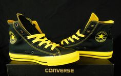 Converse Black & Yellow All Star Chuck Taylor Kicks / Sneakers