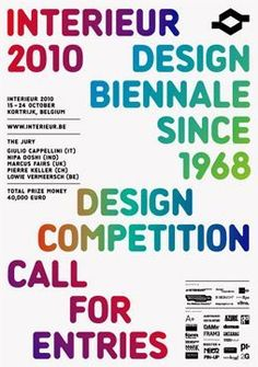 Biennale INTERIEUR 2010. Graphic Identity by Sara De Bondt studio.