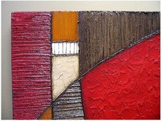 Items similar to Abstract painting MODERN TEXTURES ART wall sculpture acrylic red orange earth tones mixed media wall hanging on Etsy Art Texture, Texture Painting, Art Sculpture, Wall Sculptures, Grand Art, Ceramic Wall Art, Art Drawings For Kids, Types Of Painting, Art Moderne
