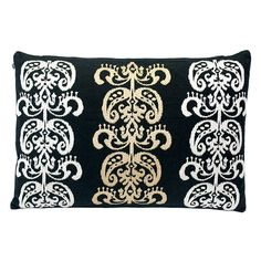 Luxe Laundry - Black Embroidered Cushion, $59.95 (http://www.luxelaundry.com.au/black-embroidered-cushion/)