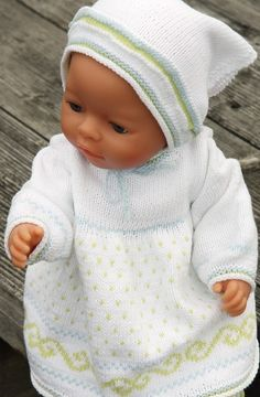 Knitting Doll Clothes - a Summer Dream in Super Soft Cotton Knitted Doll Patterns, Knitted Dolls, Knitting Patterns, Ag Dolls, Reborn Dolls, Doll Toys, Baby Born Clothes, Knitting Dolls Clothes, Stuffed Toys Patterns