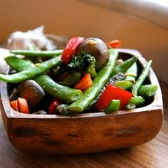 Enjoy a simple veggie stir fry with a fresh ginger, chili and soy glaze. Who needs beef or chicken when there