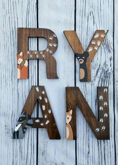 Wooden Letters For Nursery Woodland