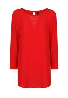 Блуза Mango женская. Цвет: красный. Сезон: Весна-лето 2014. С бесплатной доставкой и примеркой на Lamoda. http://j.mp/1l462rH