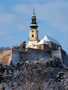 zimní Nitra, Slovakia