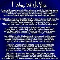 I was with uou