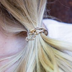 """Born as a solution to end the """"black elastic band"""", Gemtye is the hair tie for your wrist."""